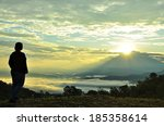 The Hopeful Sunrise. Silhouett...