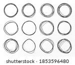 hand drawn circle line sketch... | Shutterstock .eps vector #1853596480