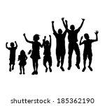 silhouette photo of seven...   Shutterstock . vector #185362190