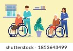 illustration of two health care ... | Shutterstock .eps vector #1853643499