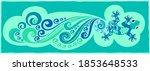 vector abstract lizard and... | Shutterstock .eps vector #1853648533