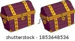vector classic wooden pirate... | Shutterstock .eps vector #1853648536