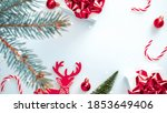 winter sale. white gift with...   Shutterstock . vector #1853649406