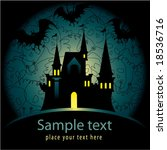 halloween invitation with castle | Shutterstock .eps vector #18536716