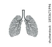 healthy lung  lung care  human...   Shutterstock .eps vector #1853671996