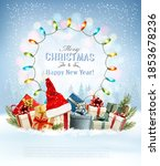 merry christmas and happy new... | Shutterstock .eps vector #1853678236