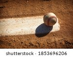 Baseball On Pitcher Mound Of...