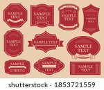 western antique frame material...   Shutterstock .eps vector #1853721559