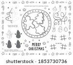 christmas printable for... | Shutterstock .eps vector #1853730736