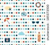 dot pattern. seamless summer... | Shutterstock .eps vector #185373500