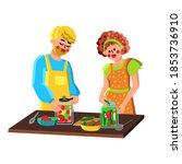 couple preserving vegetables in ...   Shutterstock .eps vector #1853736910