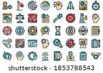 problem solving icons set....   Shutterstock .eps vector #1853788543