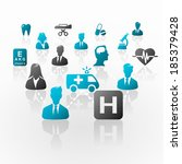 medical business network... | Shutterstock .eps vector #185379428