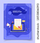 newsletter concept with email...