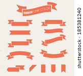 ribbon set one color | Shutterstock .eps vector #185381240