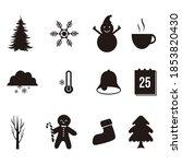 winter icons set vector... | Shutterstock .eps vector #1853820430