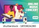 online modern music concert web ... | Shutterstock .eps vector #1853826280