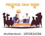political talk show tv program...   Shutterstock .eps vector #1853826286
