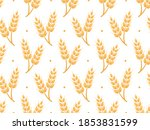 Wheat Field Seamless Pattern On ...