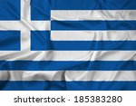 waving greece flag | Shutterstock . vector #185383280