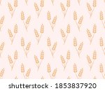Pink Gold Wheat Field Seamless...