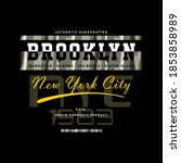 brooklyn new york city graphic  ... | Shutterstock .eps vector #1853858989