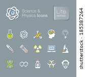 science   physics related icons. | Shutterstock .eps vector #185387264