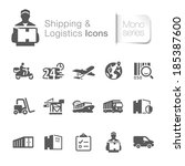 Shipping & logistics related icons. - stock vector