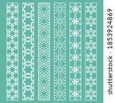 vector set of line borders with ...   Shutterstock .eps vector #1853924869