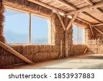 Straw House. Eco Friendly Home. ...