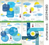 weather forecast background... | Shutterstock .eps vector #185394080