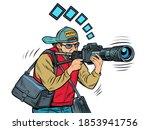 photographer reporter... | Shutterstock .eps vector #1853941756