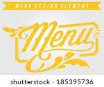 cafe restaurant design element | Shutterstock .eps vector #185395736