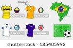 brazil soccer championship group | Shutterstock .eps vector #185405993
