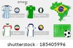 brazil soccer championship group | Shutterstock .eps vector #185405996