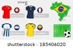 brazil soccer championship group | Shutterstock .eps vector #185406020