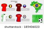 brazil soccer championship group | Shutterstock .eps vector #185406023