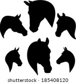 Silhouette Of A Horse\'s Head