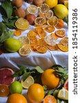 A Closeup Of Dried Orange...