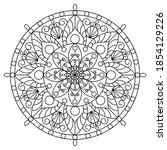 mandalas for coloring book.... | Shutterstock .eps vector #1854129226