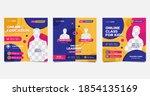 collection of social media post ... | Shutterstock .eps vector #1854135169