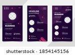 set of dark purple liquid... | Shutterstock .eps vector #1854145156