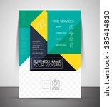 business corporate flyer... | Shutterstock .eps vector #185414810