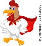 cartoon super rooster posing | Shutterstock . vector #185415080