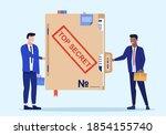 person give secret documents.... | Shutterstock .eps vector #1854155740