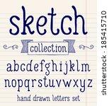 vector set with hand written... | Shutterstock .eps vector #185415710