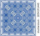 portuguese ornamental azulejo...   Shutterstock .eps vector #1854191440