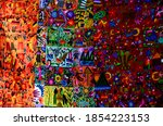 colorful guatemalan tapestry... | Shutterstock . vector #1854223153