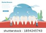 dentists fixing orthodontics or ...   Shutterstock .eps vector #1854245743