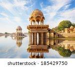 indian landmarks   gadi sagar...   Shutterstock . vector #185429750